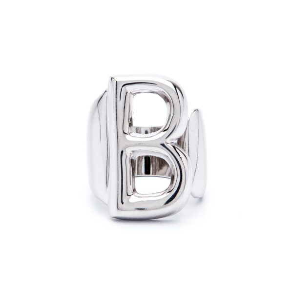 lettera b argento