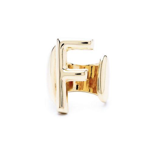 lettera f oro