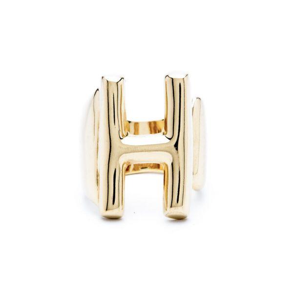 lettera h oro