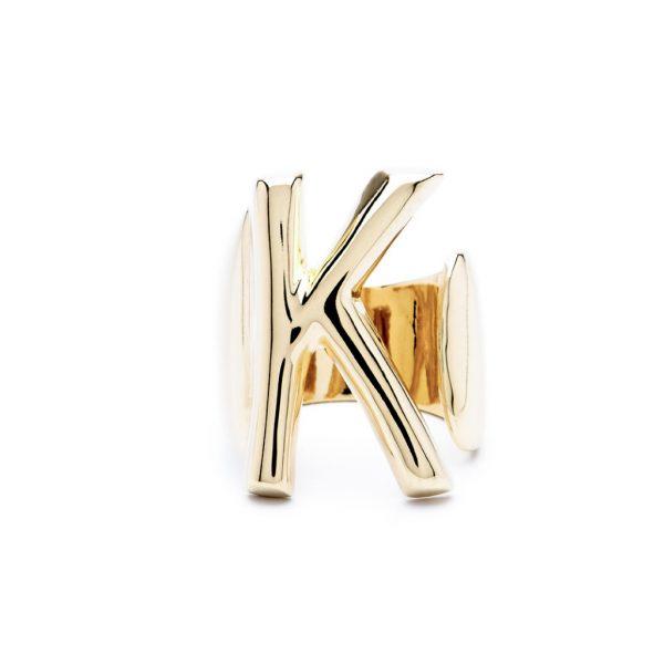 lettera k oro