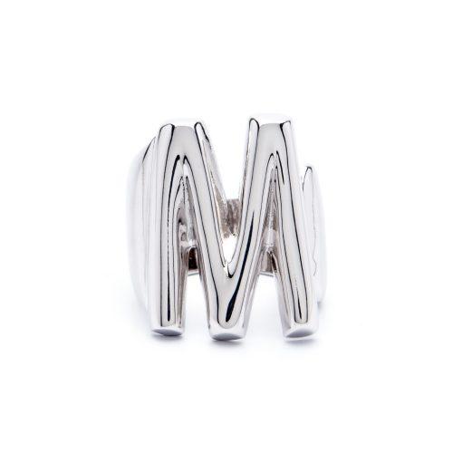 lettera m argento