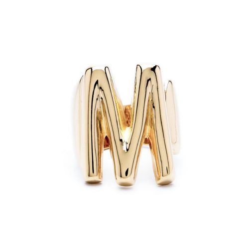 lettera m oro