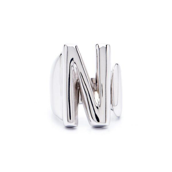 lettera n argento