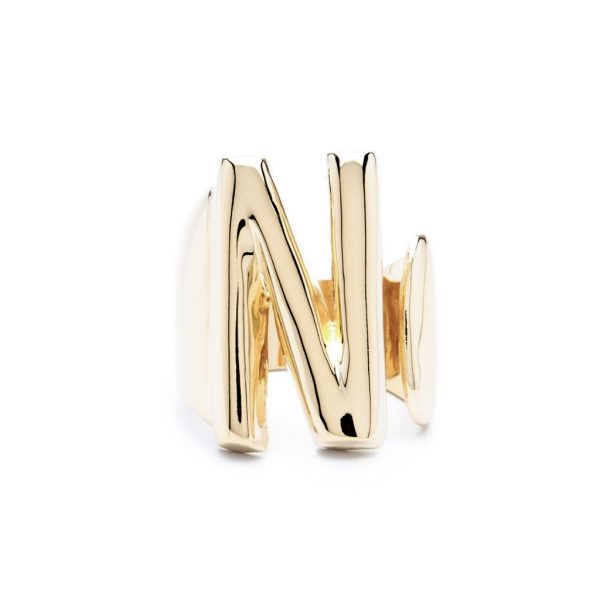 lettera n oro