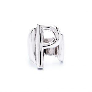lettera p argento
