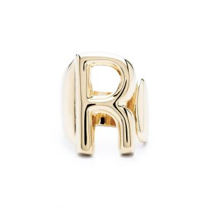 lettera r oro