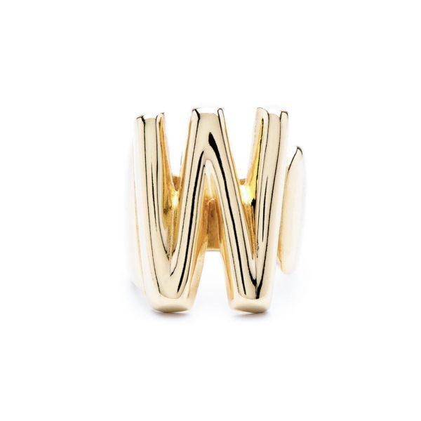lettera w oro