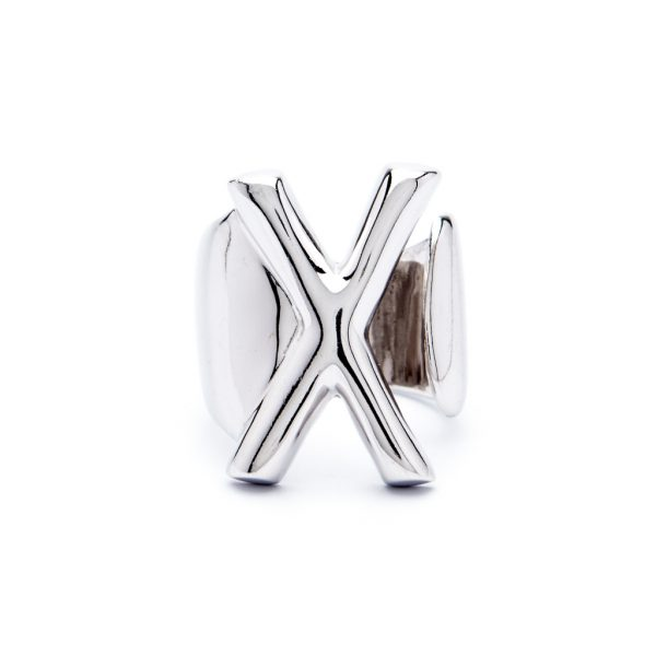 lettera x argento
