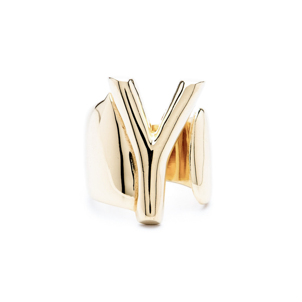 8904df149 Letter Y Gold - Alphabet Collection - Aname Handmade in Italy | NYC