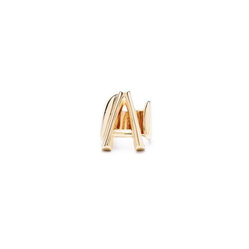 Aname-Alphabet-mini-Anello-A-gold-front
