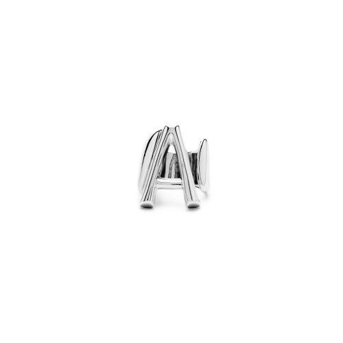Aname-Alphabet-mini-Anello-A-silver-front