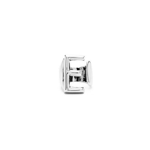 Aname-Alphabet-mini-Anello-E-silver-front