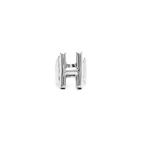 Aname-Alphabet-mini-Anello-H-silver-front