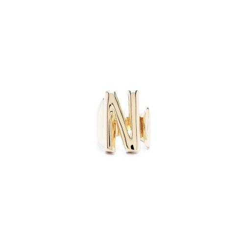 Aname-Alphabet-mini-Anello-N-gold-front