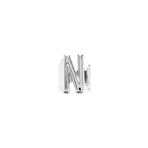 Aname-Alphabet-mini-Anello-N-silver-front