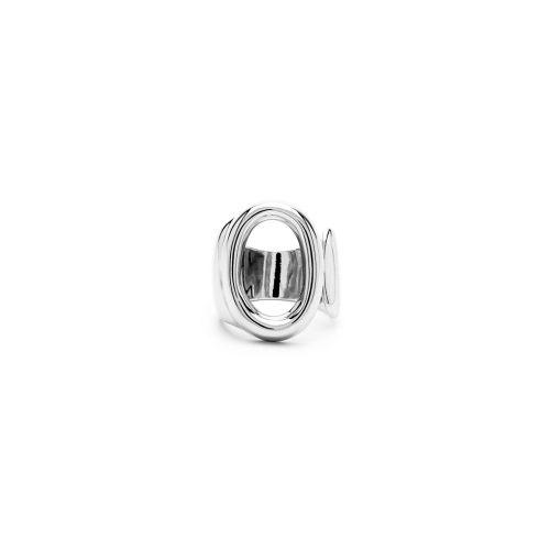 Aname-Alphabet-mini-Anello-O-silver-front