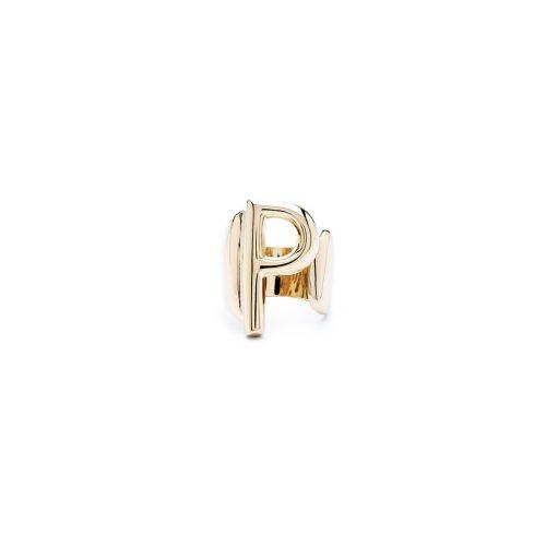 Aname-Alphabet-mini-Anello-P-gold-front
