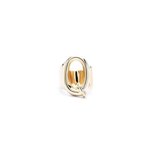 Aname-Alphabet-mini-Anello-Q-gold-front