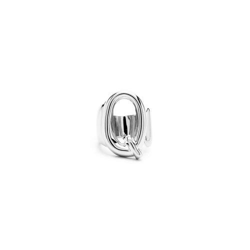Aname-Alphabet-mini-Anello-Q-silver-front