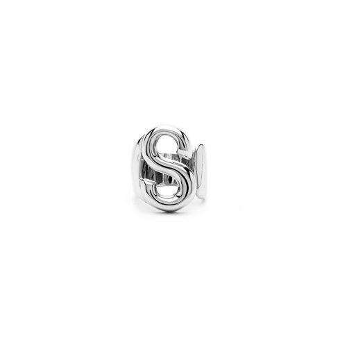 Aname-Alphabet-mini-Anello-S-silver-front