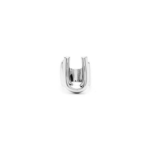Aname-Alphabet-mini-Anello-U-silver-front