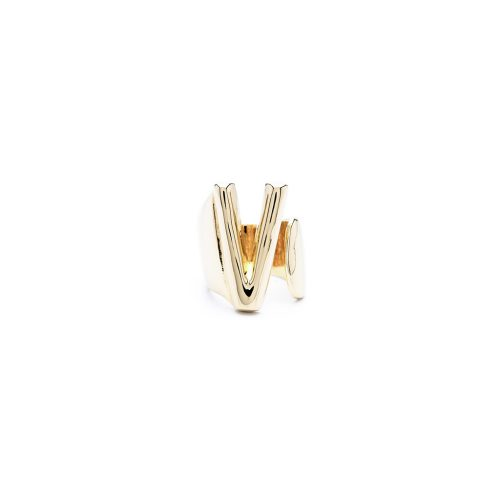 Aname-Alphabet-mini-Anello-V-gold-front