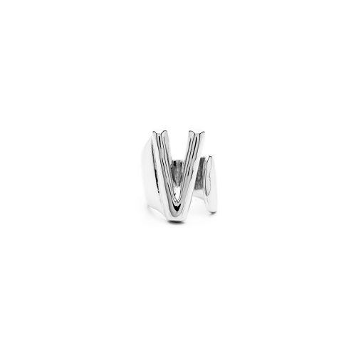 Aname-Alphabet-mini-Anello-V-silver-front