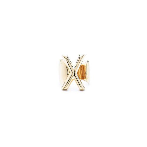 Aname-Alphabet-mini-Anello-X-gold-front