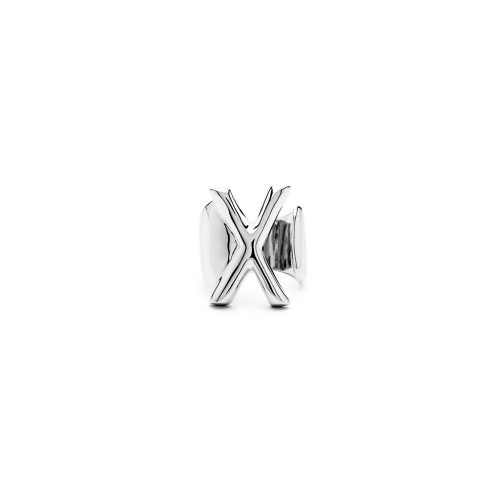 Aname-Alphabet-mini-Anello-X-silver-front