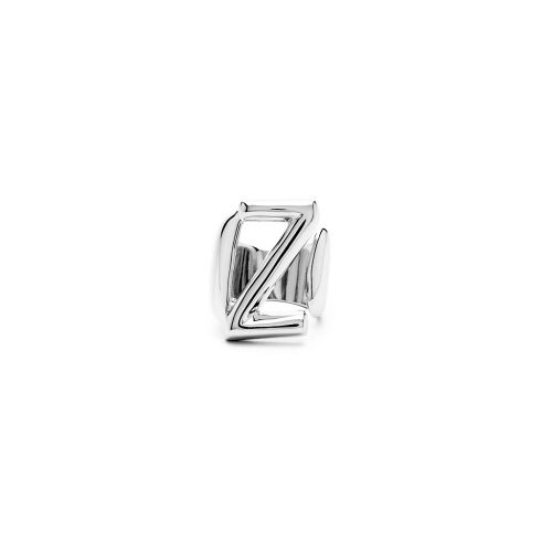 Aname-Alphabet-mini-Anello-Z-silver-front