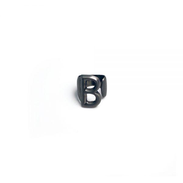 Lettera B black opaca