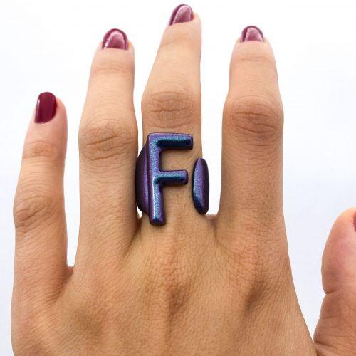 F blu iridescente