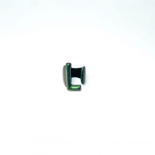 Lettera L Verde Iridescente